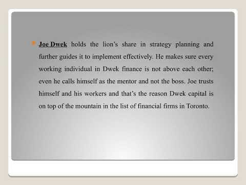Joe C Dwek taking Dwek Capital to a new level