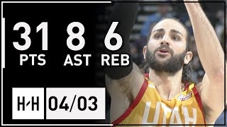 Ricky Rubio Full Highlights Lakers vs Jazz (2018.04.03) - 31 Pts, 7 Ast, 6 Reb!