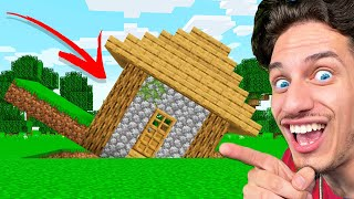 Every time my Friend looks away.. I ROTATE HIS Minecraft HOUSE!
