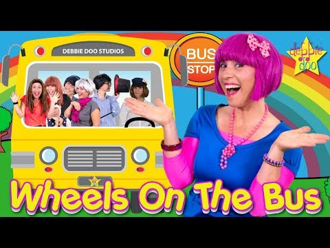 Wheels On The Bus Song |  Kids Songs and Nursery Rhymes |  The Five Finger Family | Debbie Doo