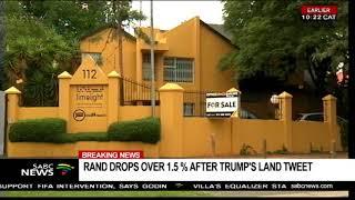 ANC reacts to Trump's tweet
