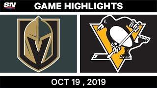 NHL Highlights   Golden Knights vs. Penguins – Oct. 19, 2019
