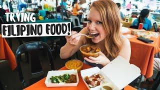 Americans Try FILIPINO FOOD! Kare Kare, Lechon, Kaldereta and Binagoongan! 🍴