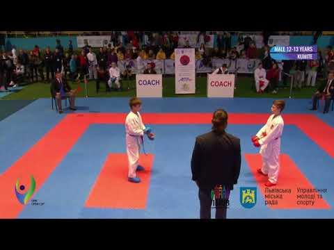 2018 Кumite Male 12-13 Years  -48 kg Shveda Vladislav Gold Medal Tigrenok Sports Club - YouTube
