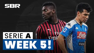 Serie A Week 5 Football Match Tips, Odds & Predictions