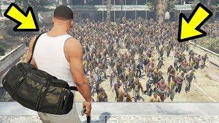 GTA 5 - The BIGGEST Zombie Hoard EVER!! (Zombie Apocalypse)