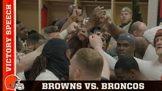 """We Gotta Be Home Dawgs"" Victory Speech vs. Broncos (Week 15) 