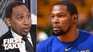 Stephen A.'s sources say Knicks want to see KD's medical report before offering a deal | First Take