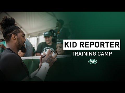"Kid Reporter ""My Favorite Superhero is the Hulk"" | New York Jets | NFL"