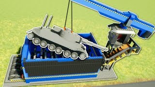 LEGO TANK SHREDDED IN GRINDER! - Brick Rigs Gameplay - Junkyard Grinder & Tow truck Roleplay