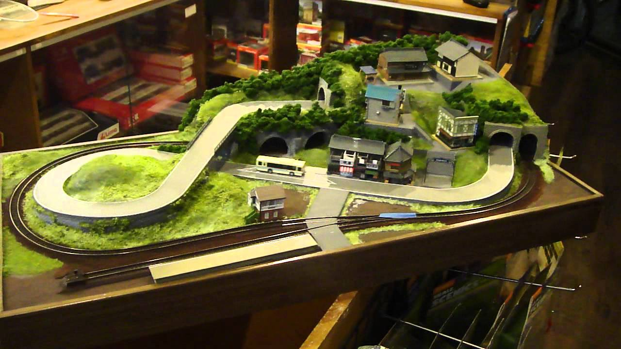 80x40cm N Scale Layout With Bus And Train Part 2 Youtube