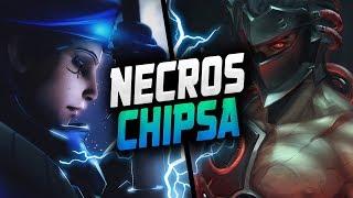 NECROS INSANE GENJI AND CHIPSA AS ANA! [ OVERWATCH SEASON 15 TOP 500 ]