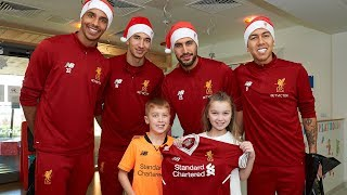 Liverpool squad make Christmas visit to Alder Hey Children's Hospital