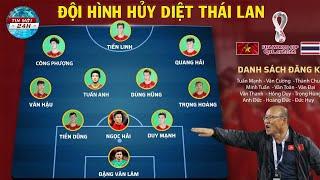 Tin Bóng Đá 19 /11: Đội hình ra sân Việt Nam Vs Thái Lan: Thầy Park bất ngờ tung chiêu