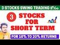 #ShortTermStock | 3 Short Term Stocks | For 10% To 20% Returns | #SasiWealthCreator