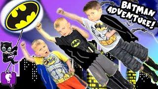 Big BATMAN Adventure Journey to find Toy SURPRISES by HobbyKidsTV