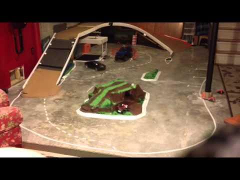 Homemade RC Drift track - YouTube