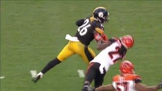 Le'veon Bell VICIOUS Stiff Arm on Dre Kirkpatrick | Bengals vs. Steelers | NFL