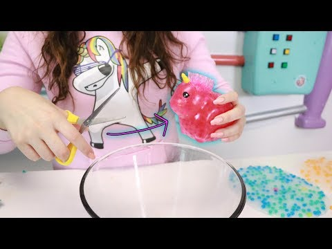 CUTTING SQUISHY ORBEEZ OPEN AND PUTTING IT IN SLIME Slimeatory #518