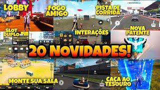 20 NOVIDADES DA NOVA ATUALIZAÇÃO DE JUNHO / FREE FIRE UPDATE 28