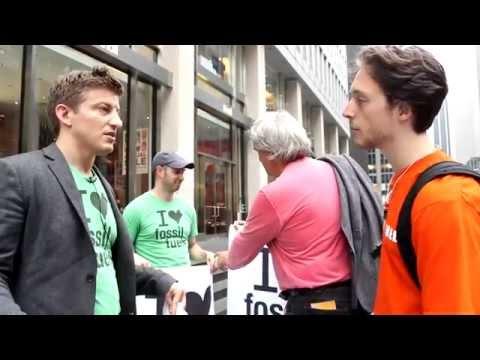 Alex Epstein at People's Climate March: Part 12, The Day's Longest Conversation