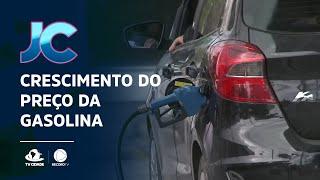 Crescimento do preço da gasolina
