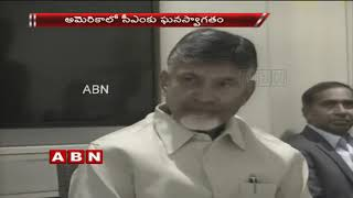 USA: Chandrababu gets Grand Welcome, meets Dr Nori Dattatr..