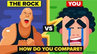 The Rock (Dwayne Johnson) vs The Average Person - How Do They Compare?