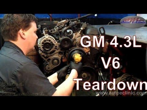 Gm Chevrolet Or Gmc 4 3 L V6 Engine Tear Down Youtube