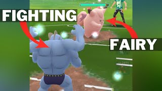 Triple FIGHTING Team VS CLEFABLE (Charm) Team in Pokemon Go Battle League