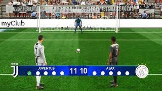 JUVENTUS vs AJAX   UEFA Champions League - UCL   Penalty Shootout   PES 2019