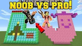 Minecraft: NOOB VS PRO!!! - CHRISTMAS BUILD BATTLE - Mini-Game
