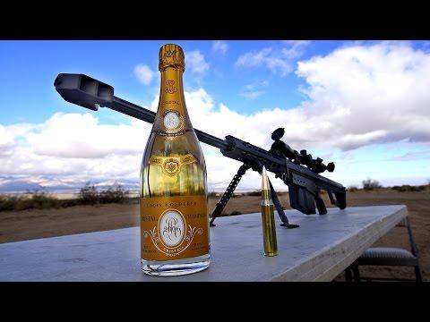 Како се отвора шампањско од 200 долари со 50-калибарска пушка?