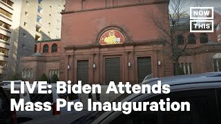 President-Elect Joe Biden Attends Church Service Ahead of Inauguration | LIVE | NowThis
