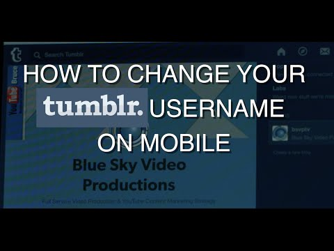 How to change your Tumblr username on mobile (iphone or android)