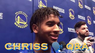 [HD] Marquese Chriss at recent Warriors practices: given opportunity; no contract update; JaVale
