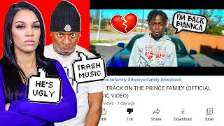 REACTING TO THE PRINCE FAMILY - DISS TRACK (OFFICIAL MUSIC VIDEO)