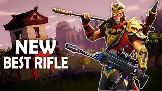 BEST RIFLE IN THE GAME | SCOPED AR BUFF | INTENSE FIGHTS - (Fortnite Battle Royale)