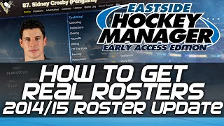 How to get Real Rosters and Real Competition Names - Eastside Hockey Manager: Early Access