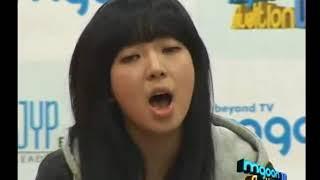 exud 하니 aoa 초아  jyp 오디션 연습생 합격  노래하는장면!!!