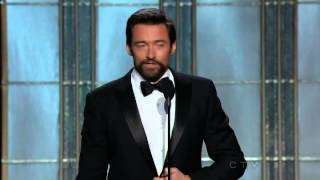 Hugh Jackman wins Best Actor (Comedy or Musical) - Golden Globes 2013