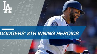Kemp, Puig's 8th inning heroics lead Dodgers to win