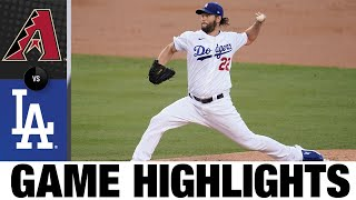 Kershaw twirls a gem, Pollock homers in win | D-backs-Dodgers Game Highlights 9/3/20