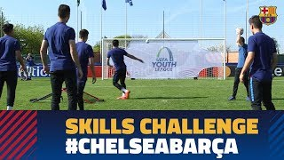 CHELSEA - BARÇA | UYL skills challenge before the big final!