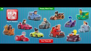 The Wreck It Ralph 2: Ralph Breaks The Internet Mcdonald's Happy Meal Toys are Finally Here!
