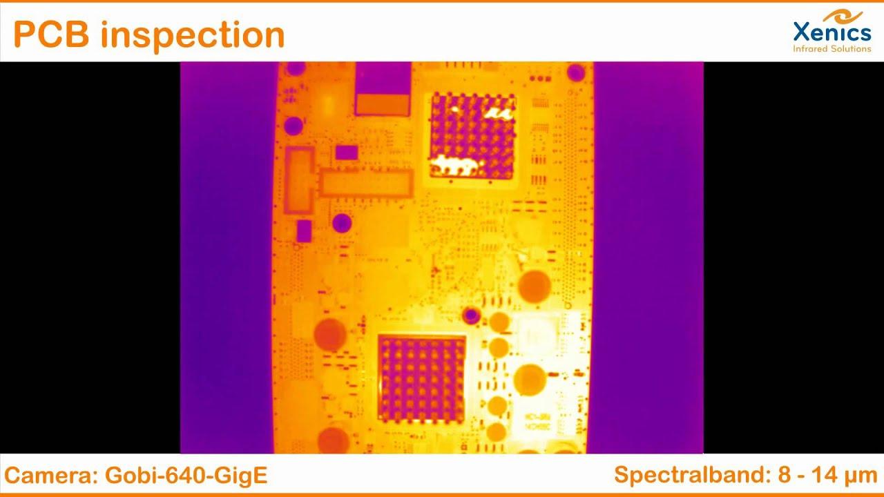 Xenics Gobi-640-GigE: Überprüfung von Leiterplatinen