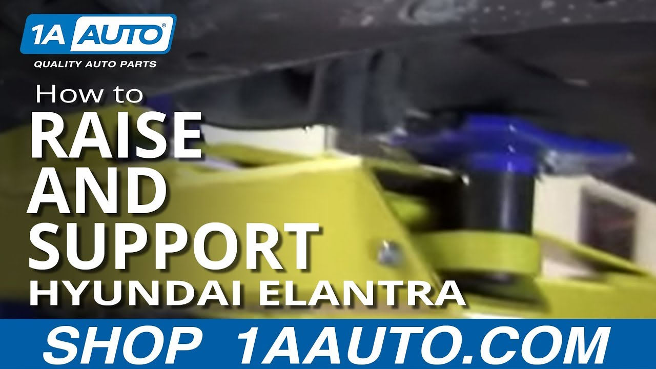 Where To Jack Up And Support 2001 06 Hyundai Elantra Youtube