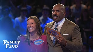 The Heltons play Fast Money!   Family Feud