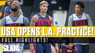 Kyle Kuzma Opens USA Practice in His Home GYM! 🇺🇸