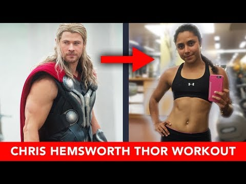 We Tried Chris Hemsworth's THOR WORKOUT 🔨💥 (Upper Body)